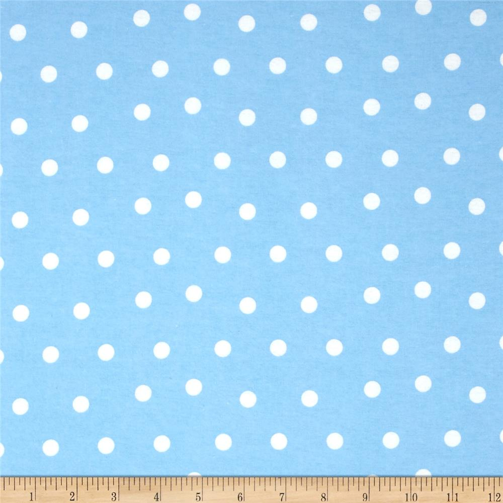 Flannel Polka Dots Blue