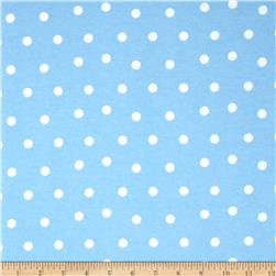 Flannel Polka Dots Blue Fabric