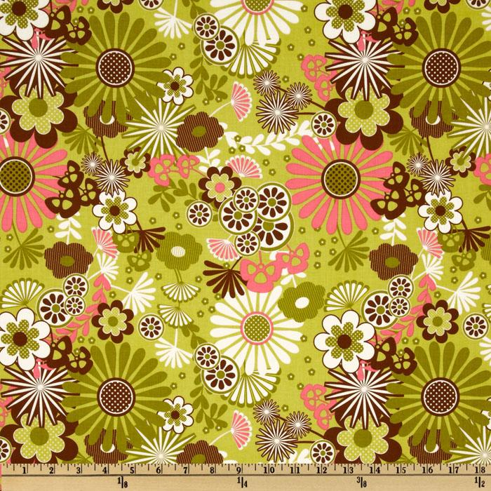 Riley Blake Dainty Blossoms Large Floral Green