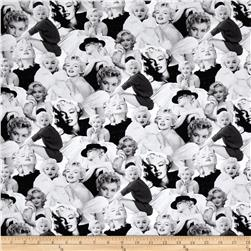 Kaufman Marilyn Monroe Digital Print Face Collage Platinum