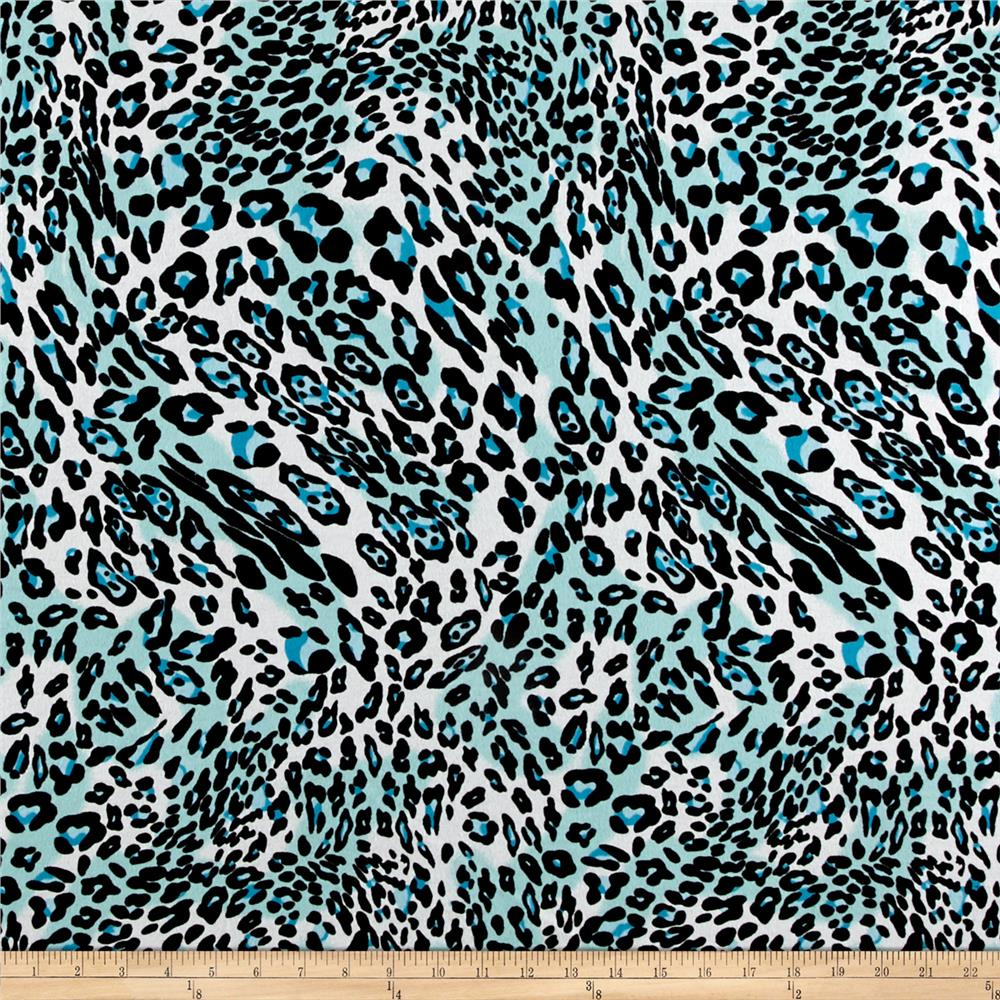 Prowl Flannel Animal Print Turquoise