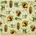 Mountain Elk Vignettes Light Green