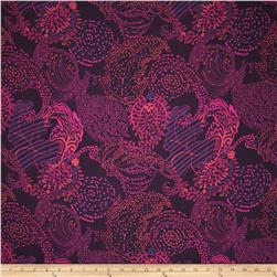 Liberty of London Silk Twill January Paisley Hot Pink