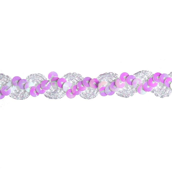 "5/8"" Sequin Trim Iridescent White"
