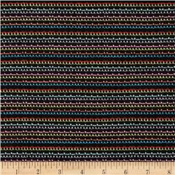Novelty Knit Stripes Black/Rainbow