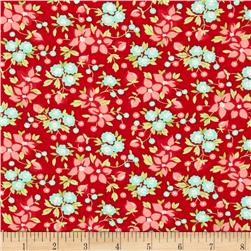 Moda Hello Darling Wildflowers Red