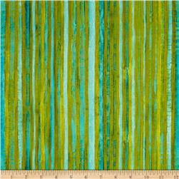 Michael Miller Poppies Skinny Stripe Aqua