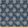 French General Brisbane Floral Blend Indigo