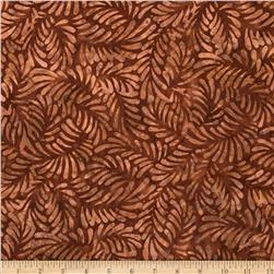 Batavian Batiks Feathers Dark Brown