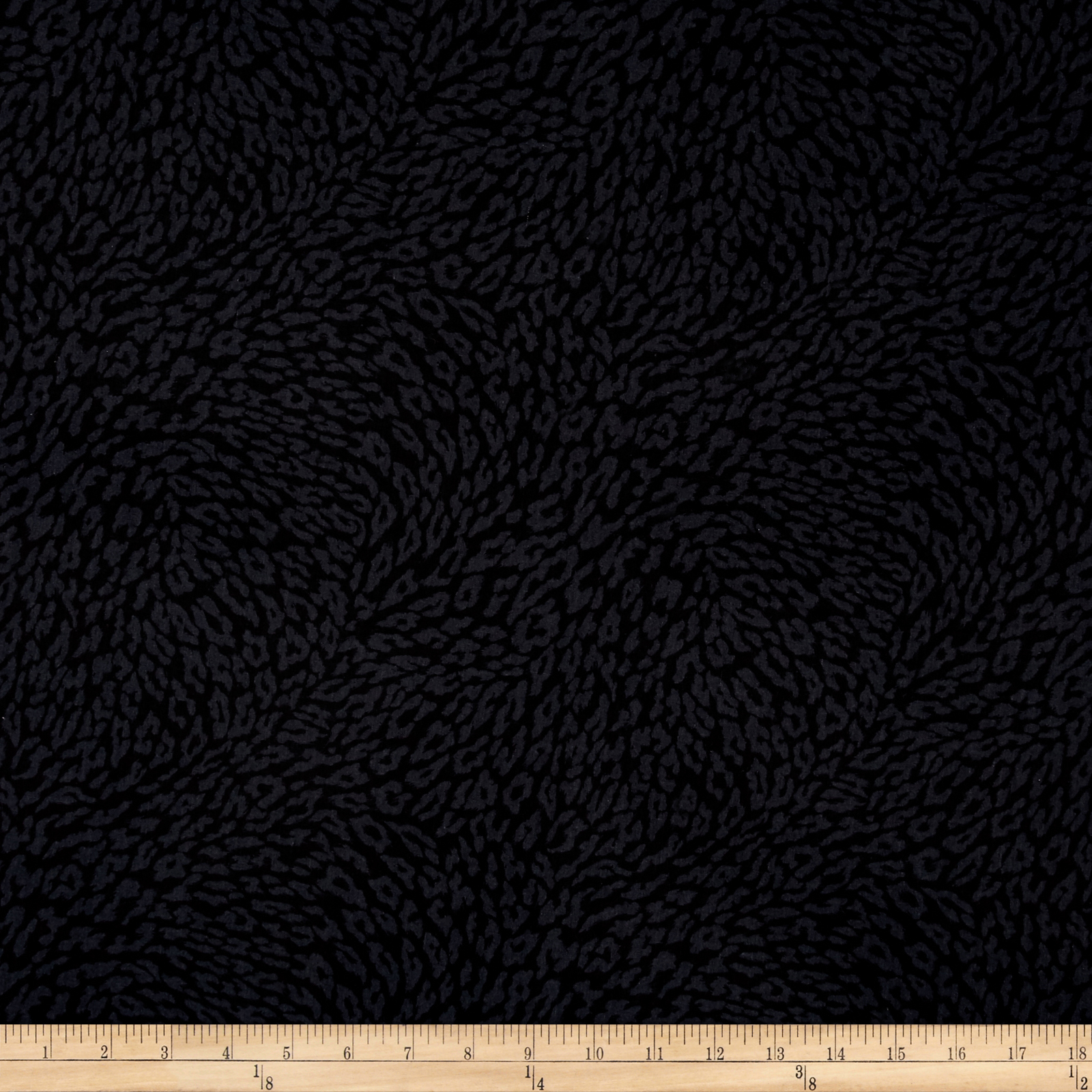 Leopard Black Skin Black Fabric by Exclusively Quilters in USA