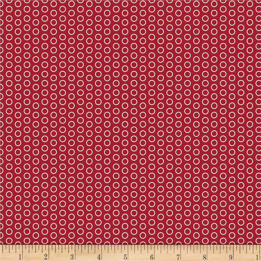 Riley Blake Speedster Sporty Dots Red