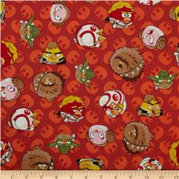 Star Wars Angry Birds Rebel Leaders Red Fabric