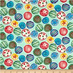 Joyful Holiday Shiny and Bright Multi Fabric