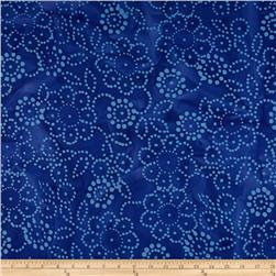 Indian Batik Hollow Ridge Floral Blue