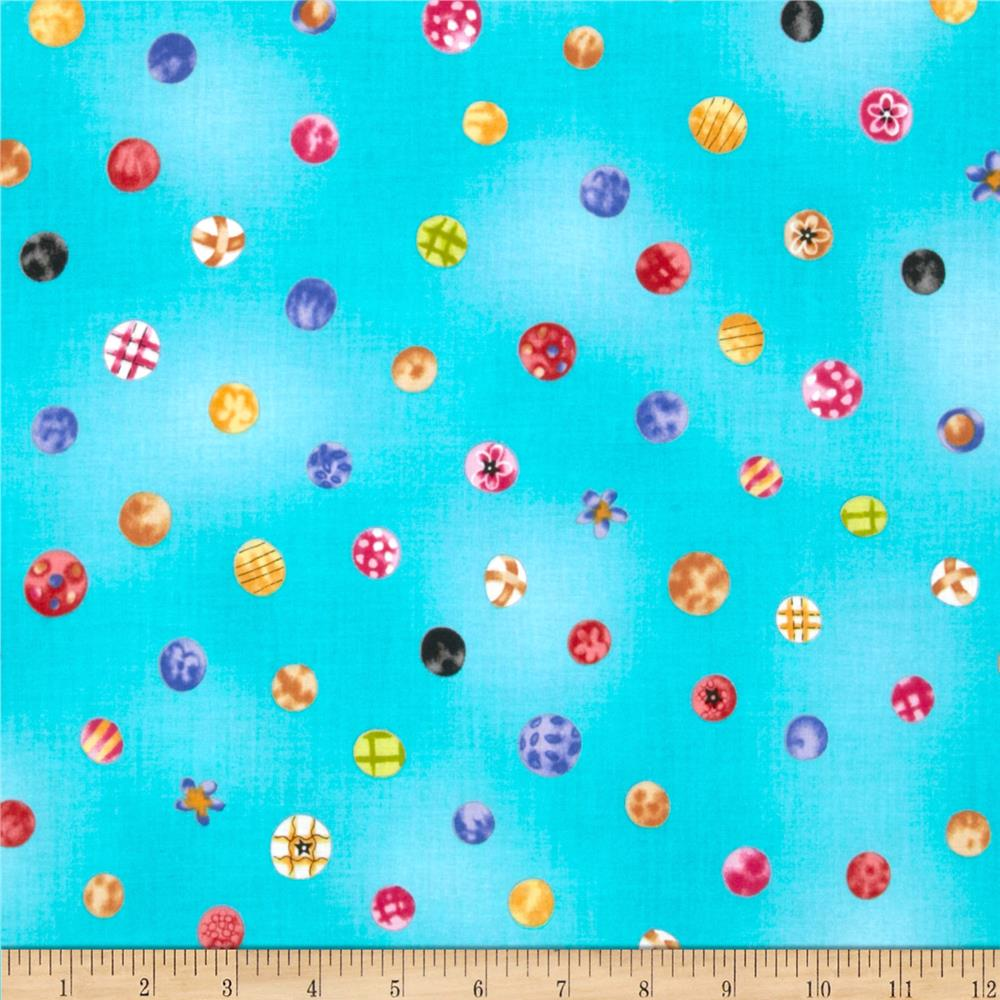 Happiness Is...Happy Dots Aqua