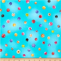 Happiness IsHappy Dots Aqua