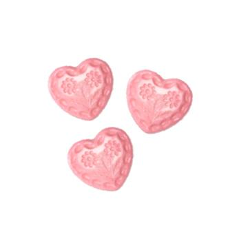 Novelty Button 1/2'' Flower Heart Pink