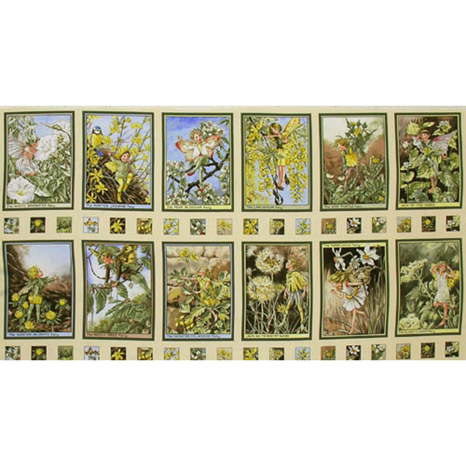 Michael Miller Flower Fairies Sunshine Panel Sunny Fabric