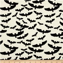 Riley Blake Lost & Found Halloween Bats Cream