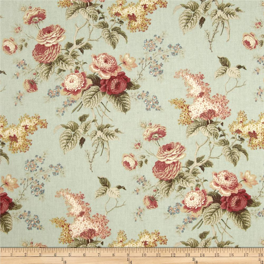Waverly emma 39 s garden mist discount designer fabric for Upholstery fabric for baby nursery