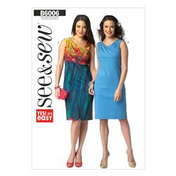Butterick Misses' Dress Pattern B6006 Size 0A0