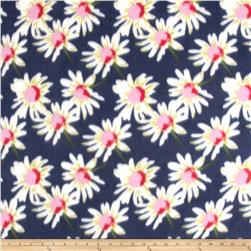Fleece Daises Navy