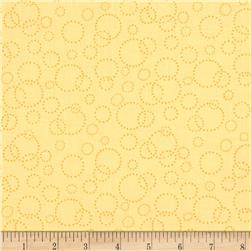 "110"" Wide Quilt Back Champagne Yellow"