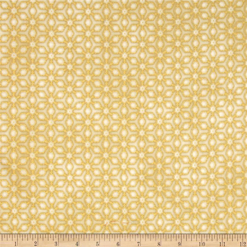 Kaufman Imperial Collection Metallic Grid Ivory