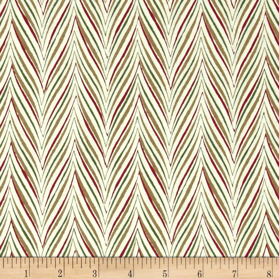 Anna Griffin Yuletide Greetings Holiday Chevron Ivory
