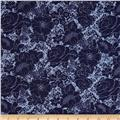 Mint To Be Floral Damask Navy