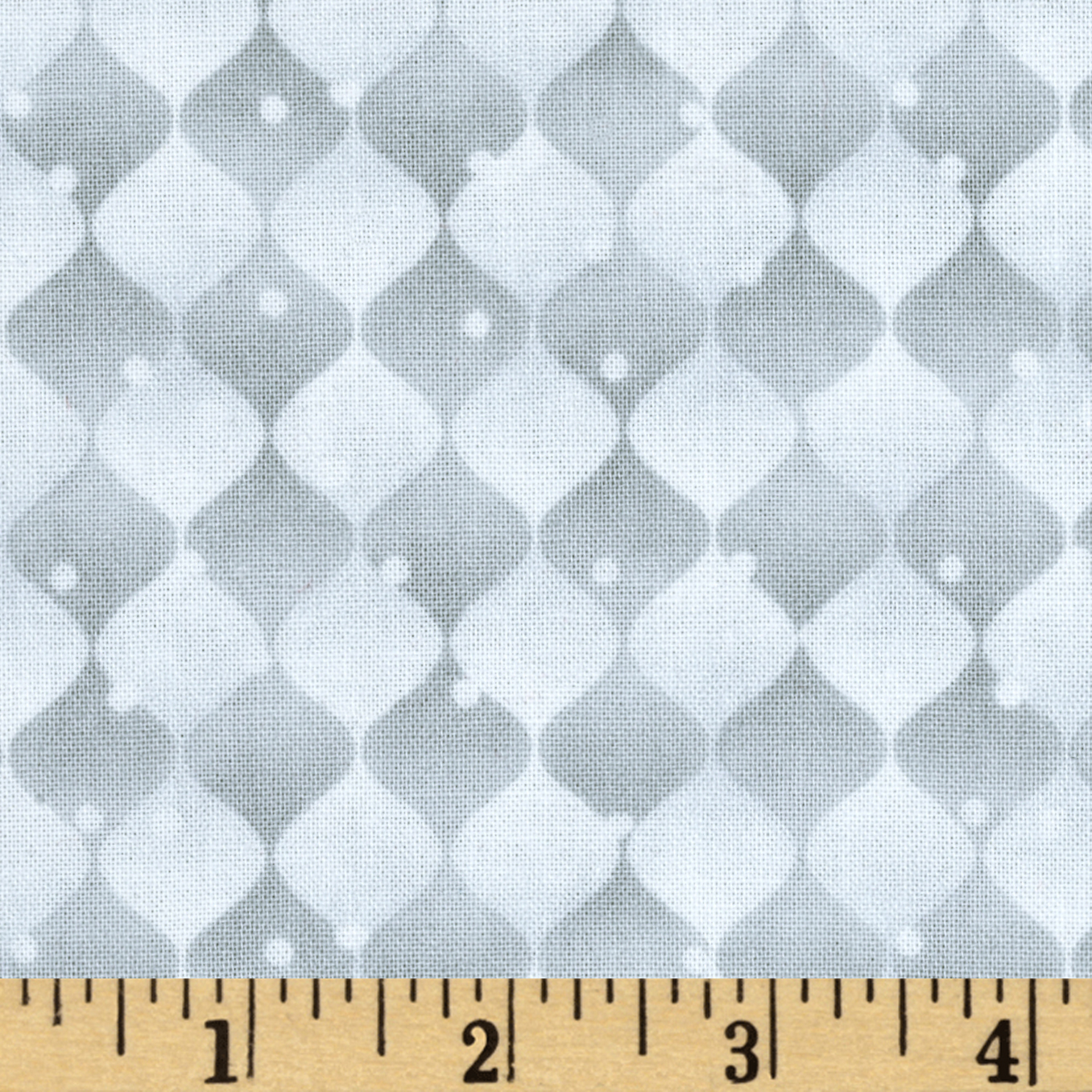 Holiday Cheer Harlequin White/Grey Fabric by Henry Glass in USA