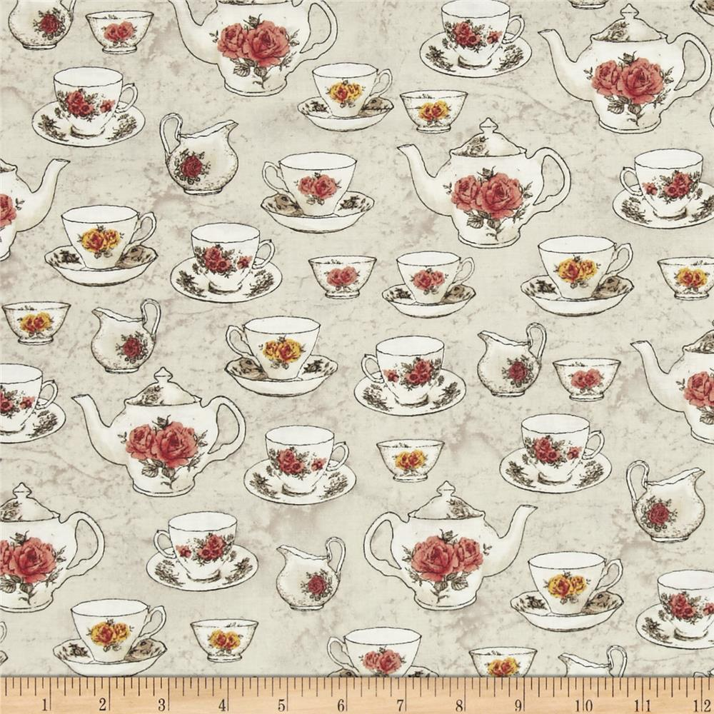 Afternoon Teacups Parchment