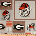 Collegiate Fleece University Of Georgia Plaid Blocks
