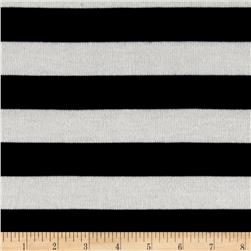 Lightweight Sweater Knit Stripe Black/White