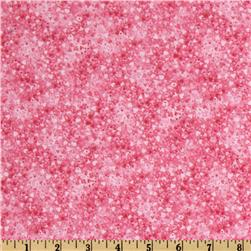 Flannel Tone On Tone Hearts Fuchsia