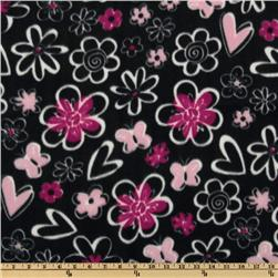 WinterFleece Butterfly Heart Song Black