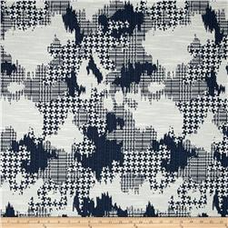 Robert Allen @ Home Plaid World Basketweave Jacquard Indigo