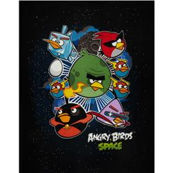 Angry Birds Fleece Asteroids Panel Black