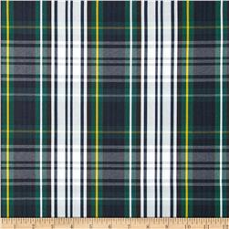 Polyester Uniform Plaid Green/Blue/White