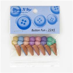 Dress It Up Embellishment Buttons  Ice Cream Cone