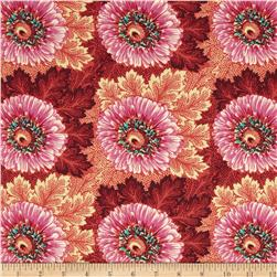 Amy Butler Hapi Sun Flowers Coral Fabric
