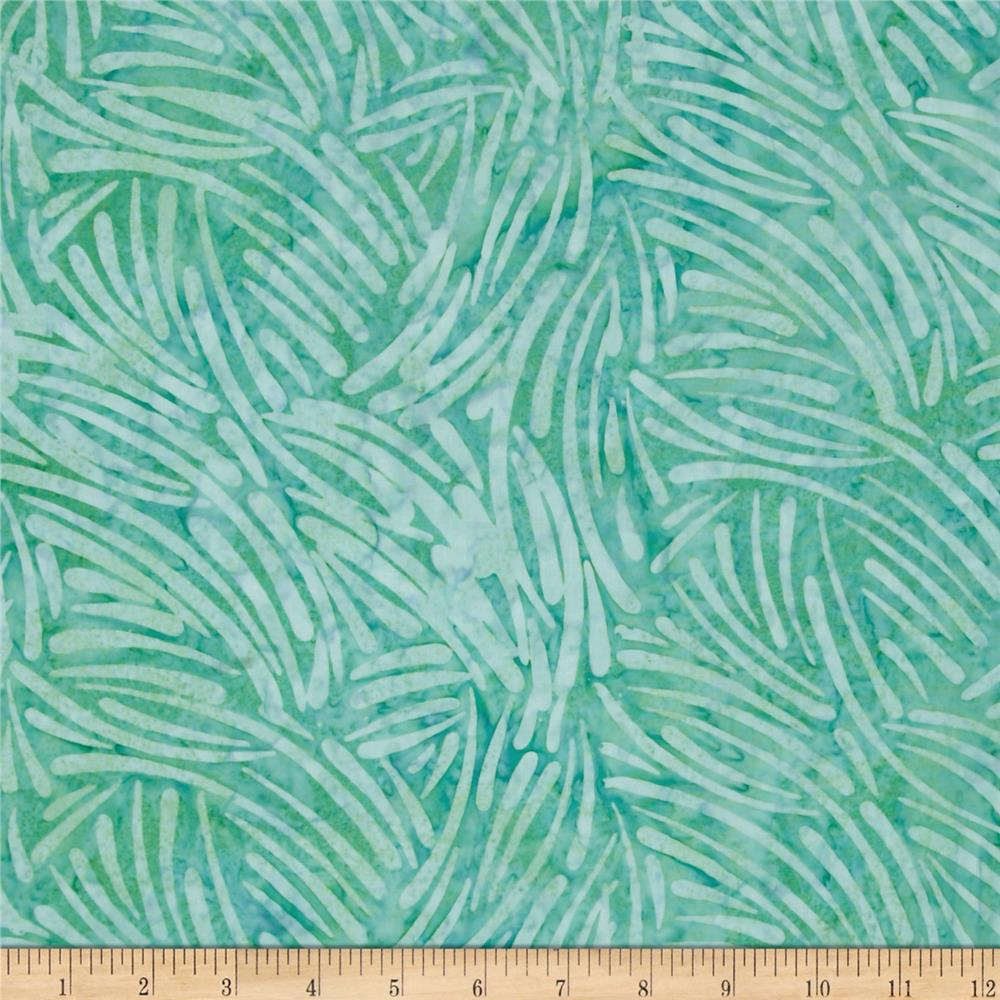 "106"" Wide Batavian Batiks Quilt Backing Chopsticks Aqua"