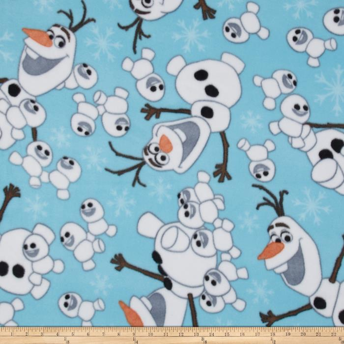 Disney Frozen Fleece Olaf Snowman Toss Blue
