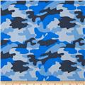 Cotton Twill Camo Blue Multi