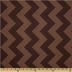 Riley Blake Chevron Large Tonal Brown Fabric
