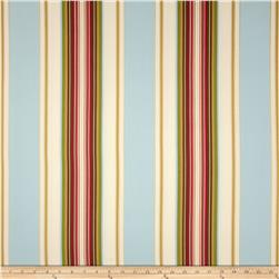 Duralee Home Claires Stripe II Twill Natural/Blue Fabric