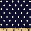 Cotton + Steel Frock Rayon Poplin Navy Diamonds