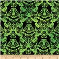Hocus Pocus Halloween Damask Lime