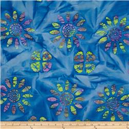 Indian Batik Large Floral Blue/Multi