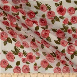 Cotton Voile Roses Red / Pink